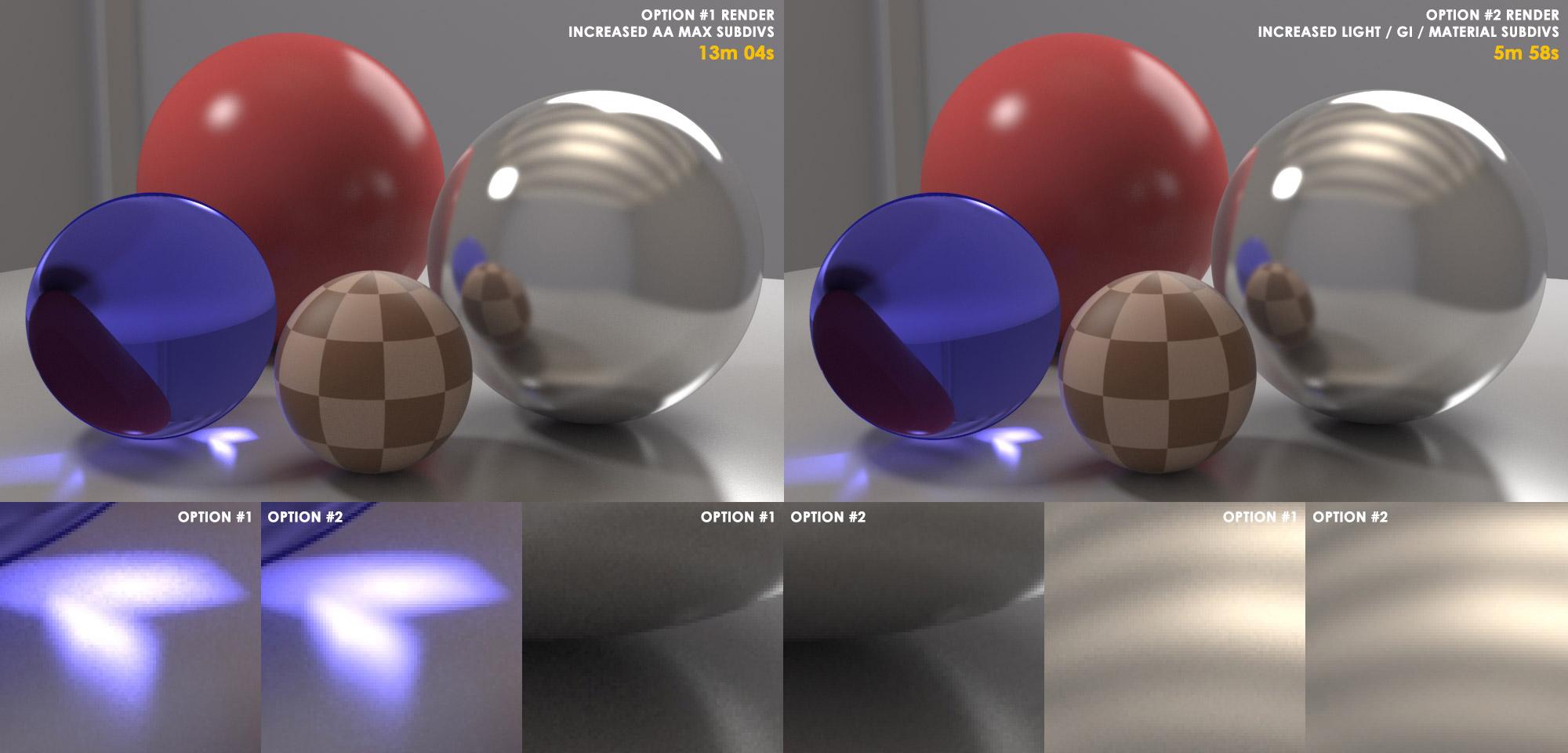 Optimizar el render con V-Ray
